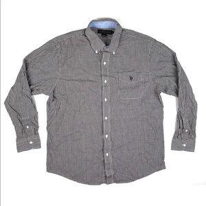 U.S. Polo Assn Long-sleeve Button Up Men's Size L